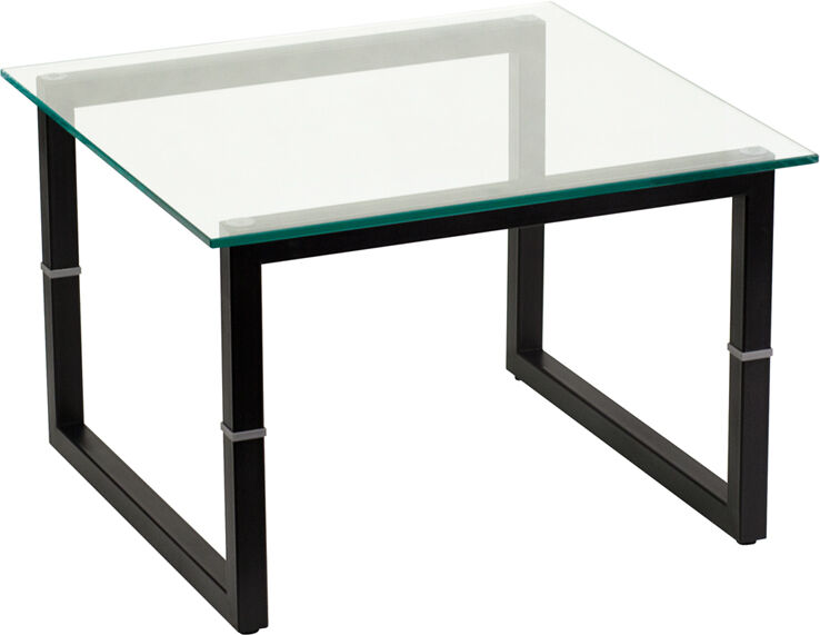 Black Glass Side Table Gumtree: NEW! CLEAR GLASS BLACK METAL BOX FRAME HOME OFFICE