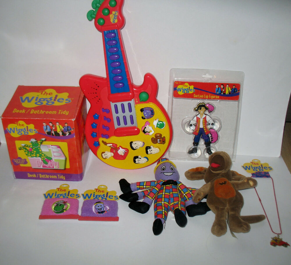 Big Toy Car Holder : The wiggles toy lot plush guitar wristbands dorothy
