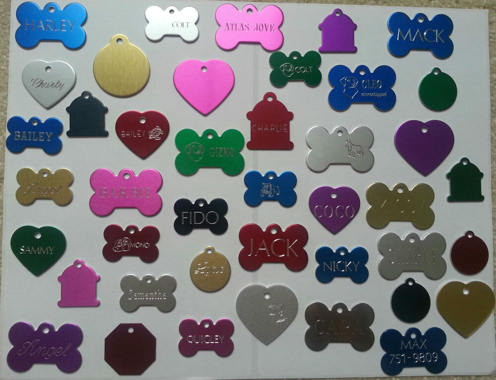 Pet Tags Id Custom Double Sided Diamond Engraved Dog Cat