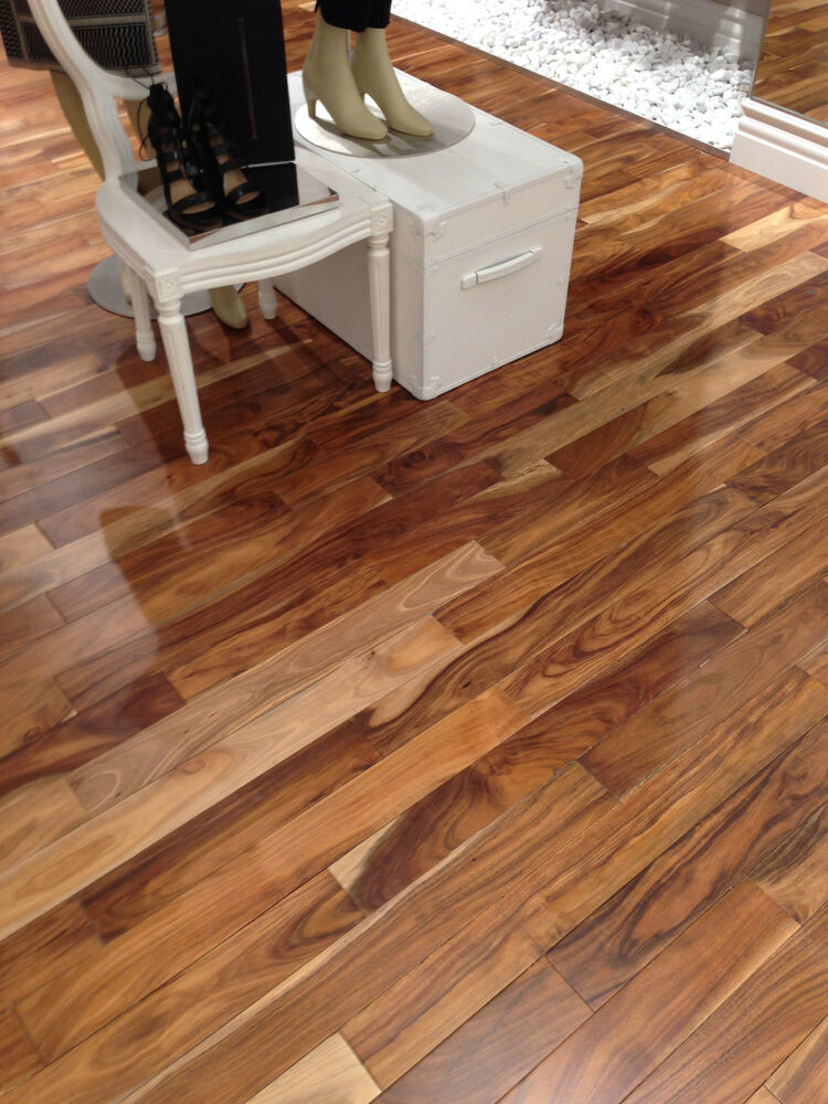 Acacia asian walnut solid prefinished hardwood wood for Walnut hardwood flooring