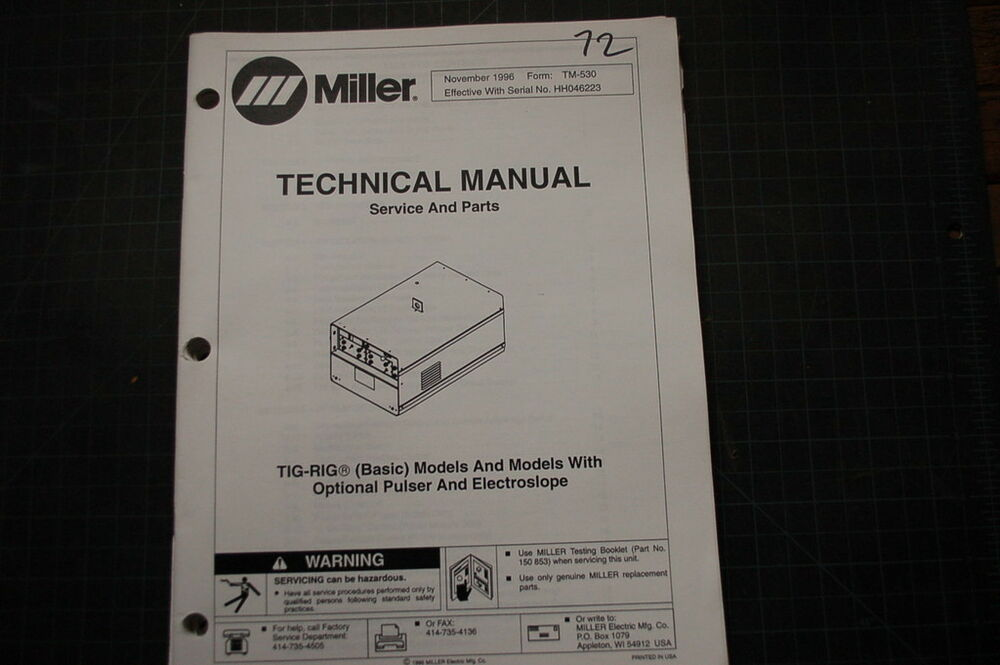 Miller Welder Synchrowave Manual