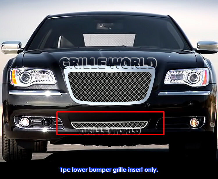 2011 2014 chrysler 300 300c bumper stainless steel mesh. Black Bedroom Furniture Sets. Home Design Ideas