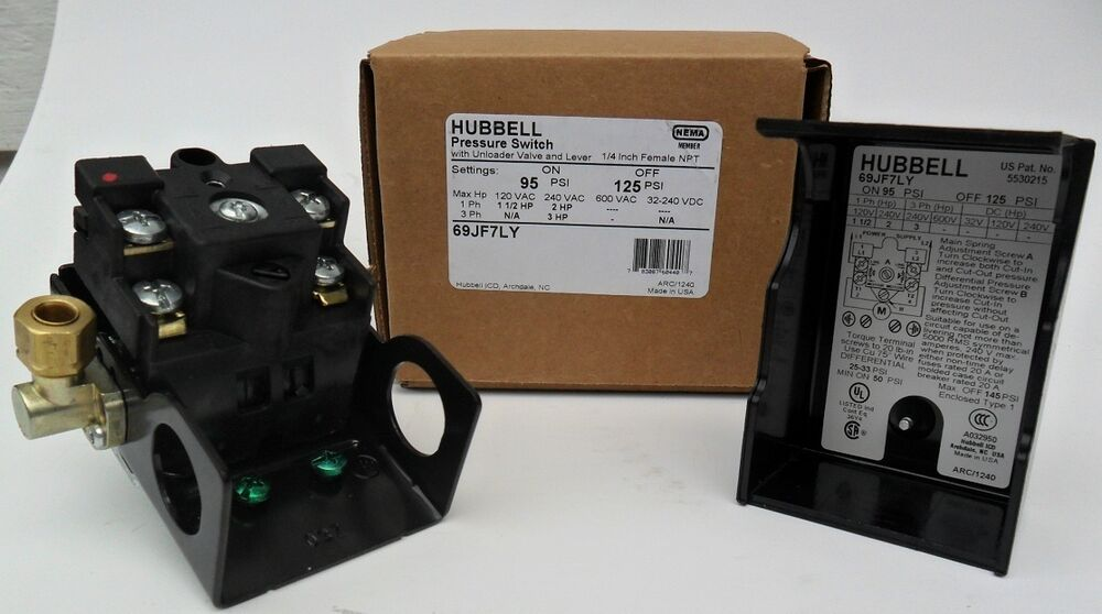 New Furnas Hubbell Siemens Pressure Switch 69jf7ly 95
