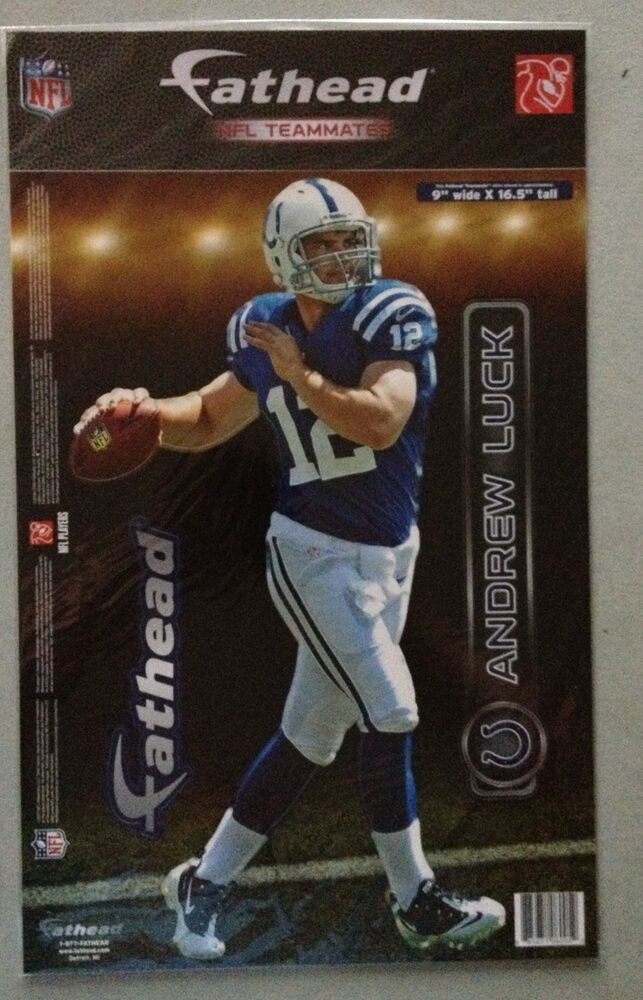 Andrew Luck Fathead Teammates Indianapolis Colts 9 X 165 New Ebay