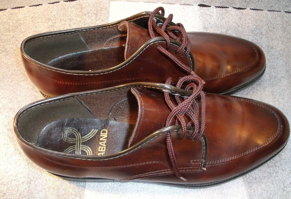 mens haband brown oxford shoes size 9 d ebay