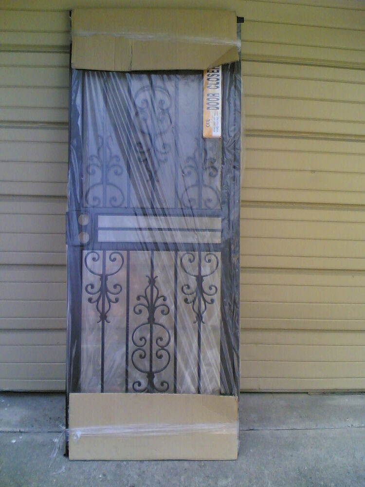 Brand new metal security storm door frame full