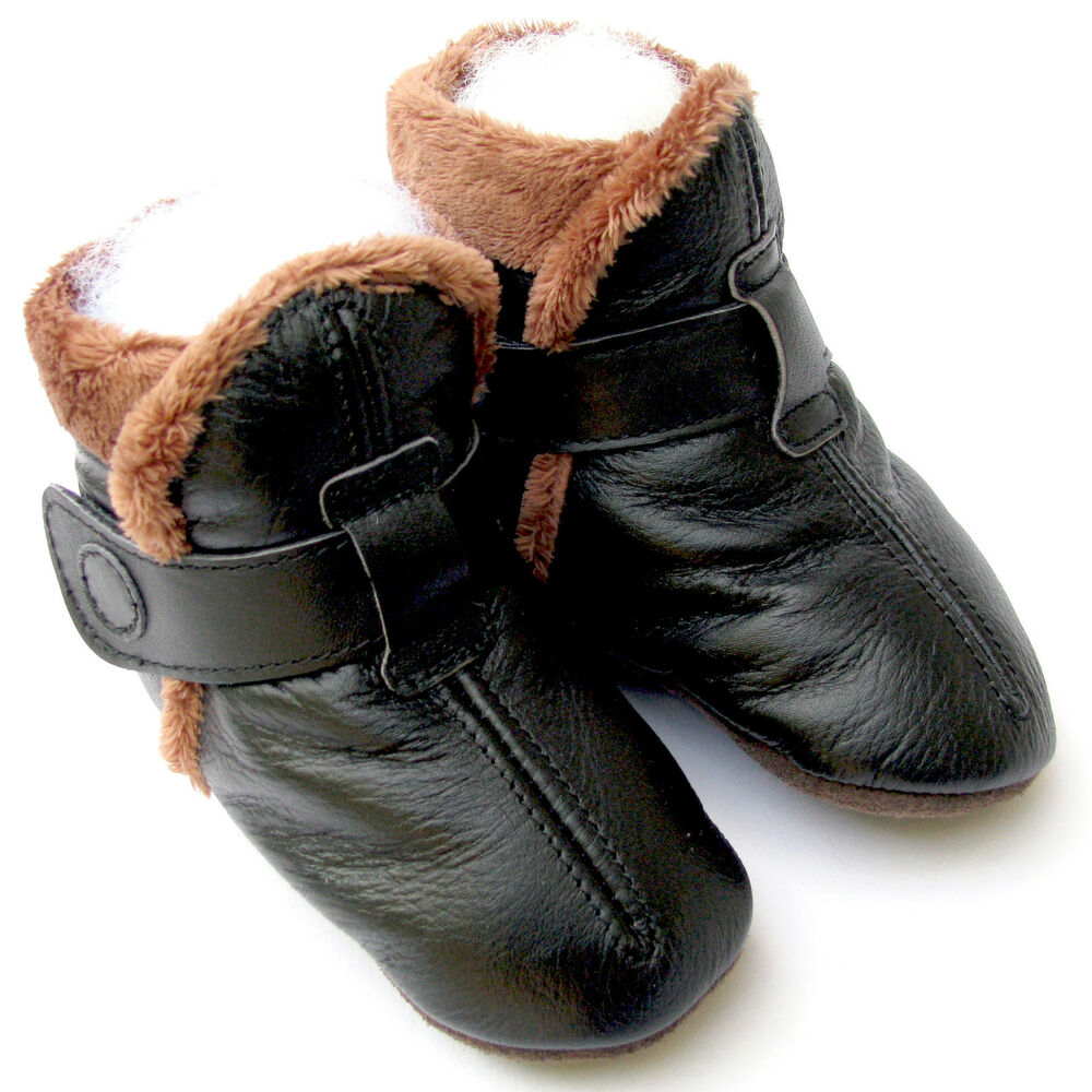 carozoo booties black 2 3y soft sole leather toddler shoes