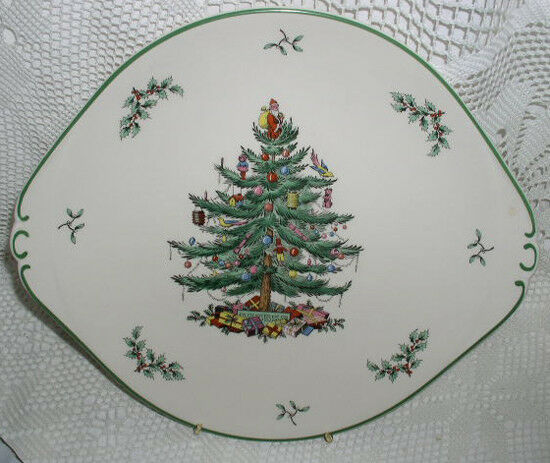 Spode Christmas Tree China Sale: Spode England Christmas Tree Platter Oval Platter Serving
