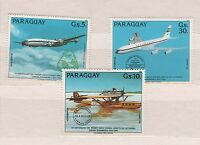 Paraguay stamp set MNH Michel 3786 - 3788 Sc c 571 - 573 airplanes