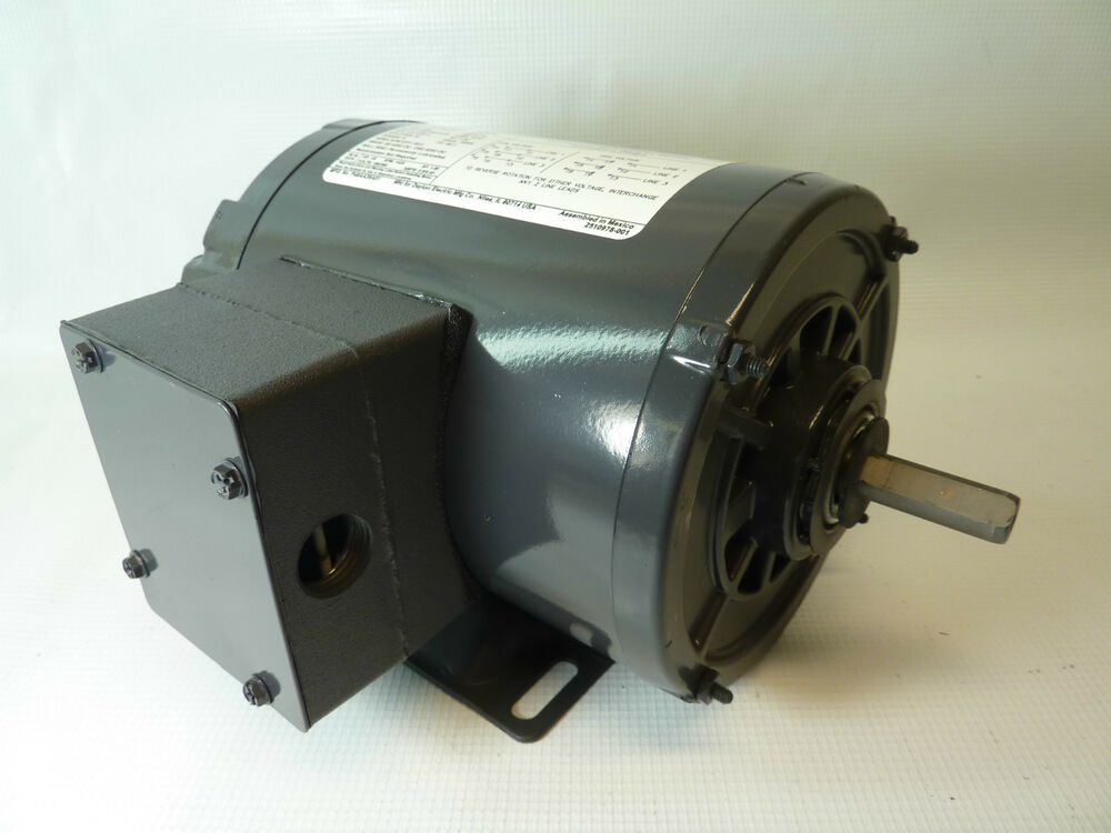 Dayton 3n349bd electric motor 1 4 hp 3 ph 1725 rpm 208 230 for One horsepower electric motor