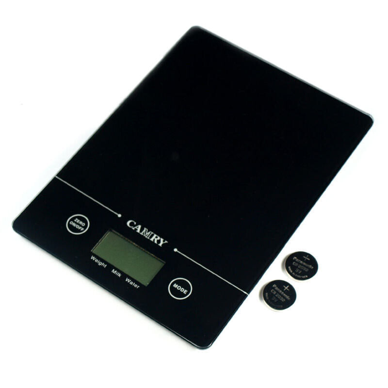 Digital Kitchen Scale: EK9150 Glass Slim Digital Kitchen Scale 11 Lbs X 0.1oz