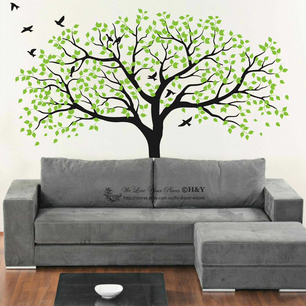 150x180cm nursery tree wall stickers kids art removable for Design wall mural