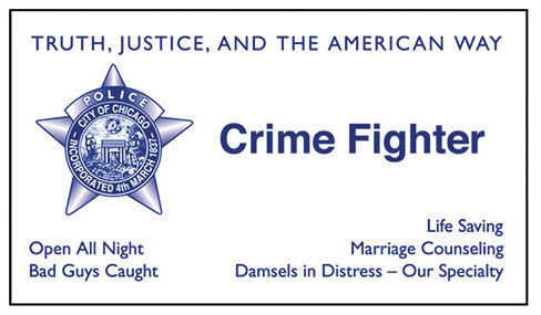 Chicago Police Novelty Business Cards Set Of 25 Crime