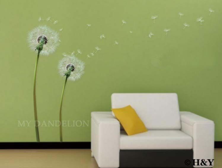 Dandelion Flower Removable Wall Art Decal Vinyl Stickers