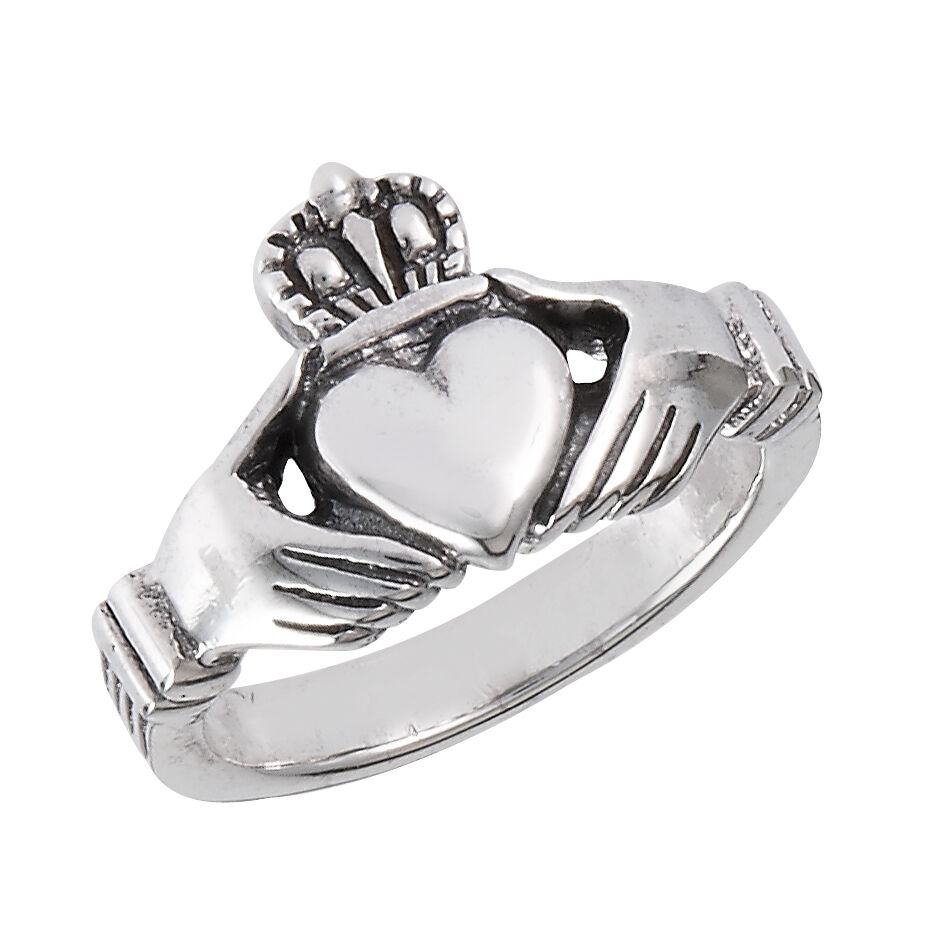 sterling silver classic claddagh cladagh claddaugh ring. Black Bedroom Furniture Sets. Home Design Ideas