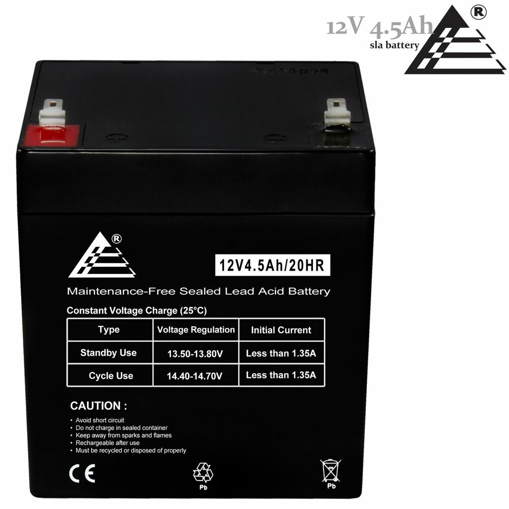 new rechargeable sla battery 12v 4 5ah 4ah for home. Black Bedroom Furniture Sets. Home Design Ideas