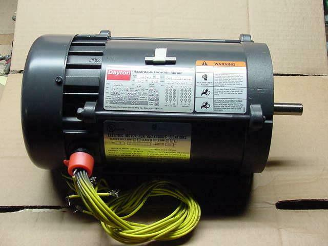 Dayton 1 2 hp hazardous location electric motor 208 230 for One horsepower electric motor