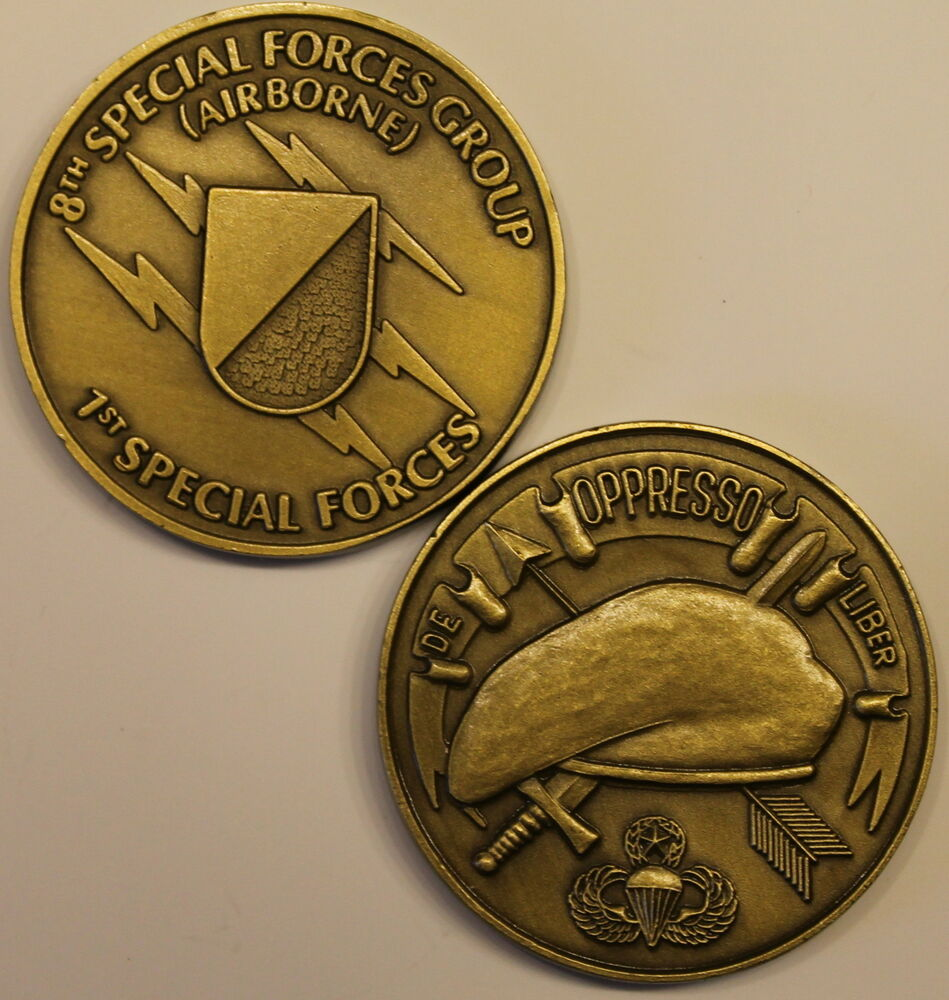 8th Special Forces Group Airborne Army Challenge Coin Br C Ebay
