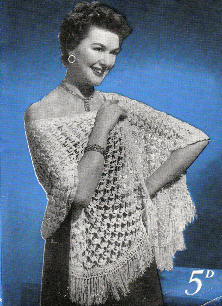 Knitting Lady At Guillotine : Vintage knitting pattern ladies pretty delicate lace