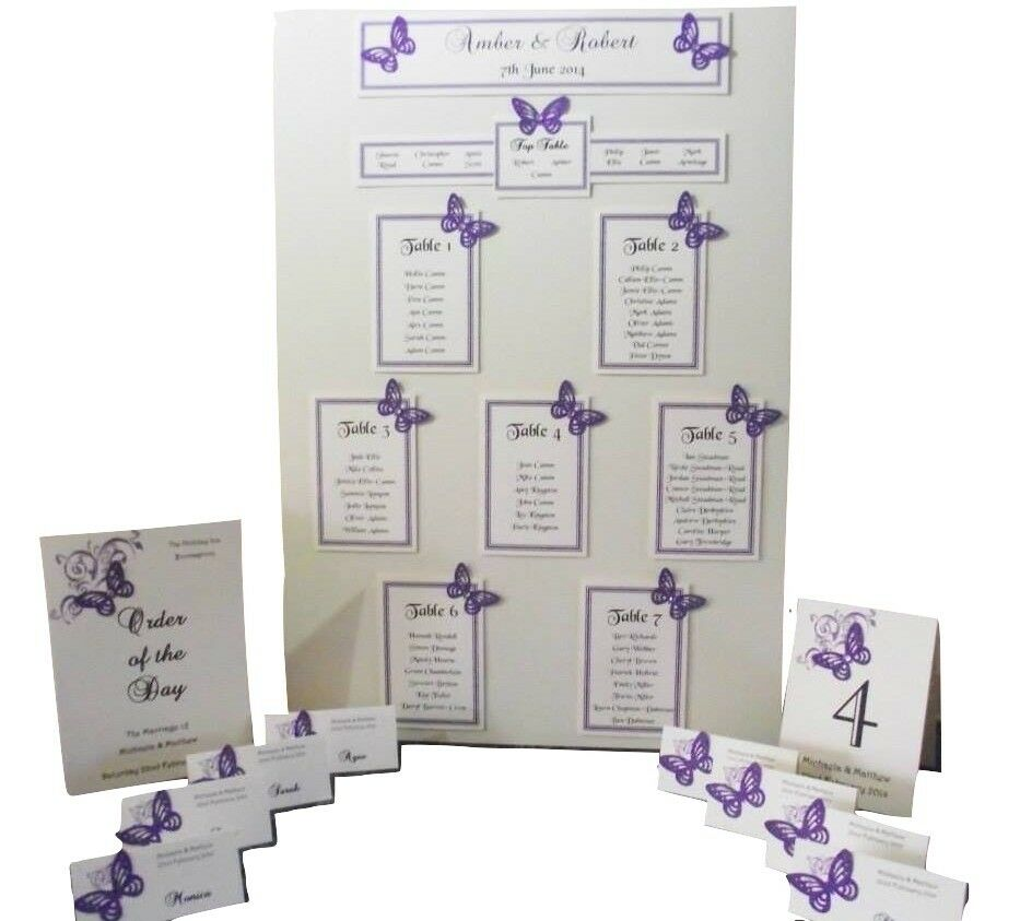 Personalised a3 a2 wedding seating plan table planner for Table design names