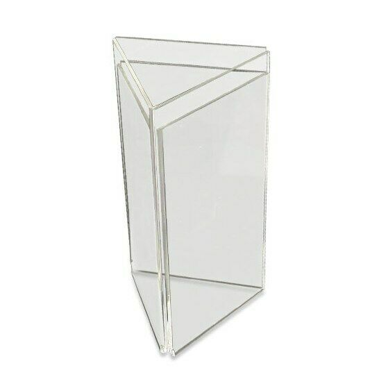 Acrylic 3 Sided 1 3rd A4 Menu Holder Display Table Top