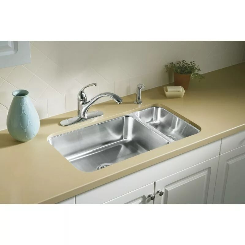 kitchen basin sinks sterling mcallister ucl3322r undercounter high low 2292