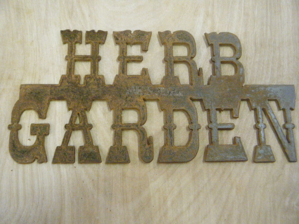 free shipping rustic rusted metal herb garden sign wall hanging ebay