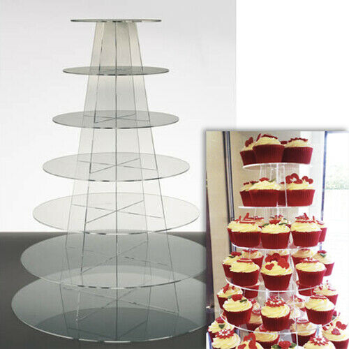 wedding cake tier stands uk cupcake stand 7 tier clear perspex display tower 26273