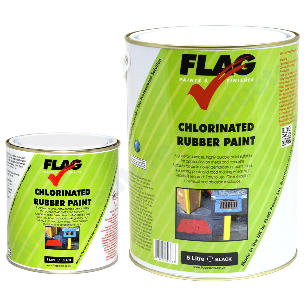flag chlorinated rubber paint known as road line marking