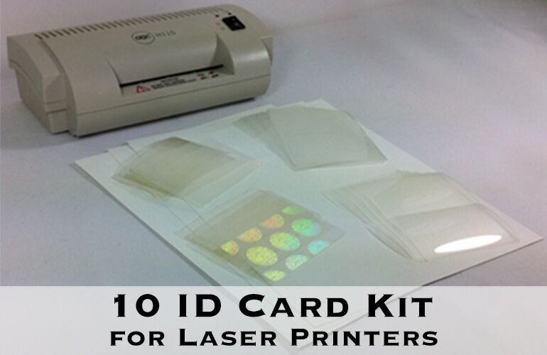 id card kit for laser  makes 10 pvclike id cards