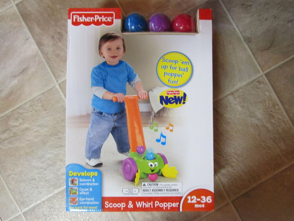 Fisher Price Scoop & Whirl Popper Baby Infant walking toy push ball NEW balance | eBay