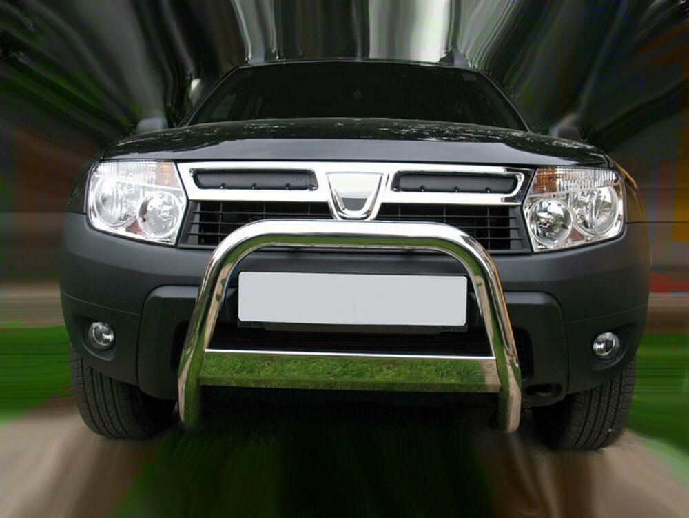 dacia duster 63mm bull nudge bar grill guard with. Black Bedroom Furniture Sets. Home Design Ideas