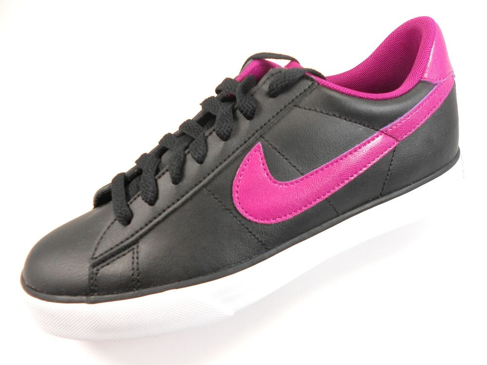 nike sweet classic s black pink leather casual shoes
