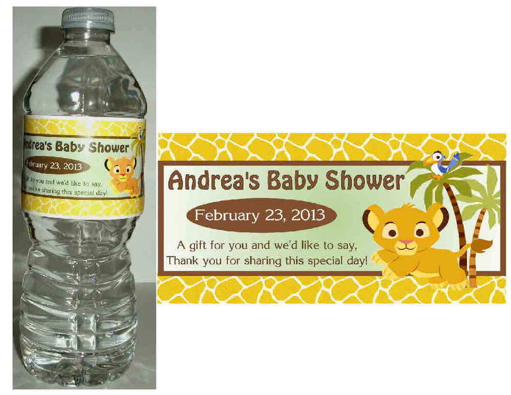 20 lion king baby simba baby shower water bottle labels ebay
