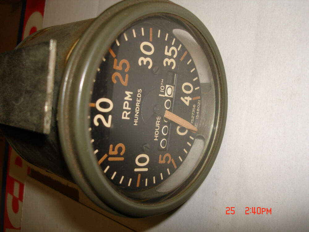 Electric Motor Hour Meters : Vintage m military tank apc tachometer hour meter p n
