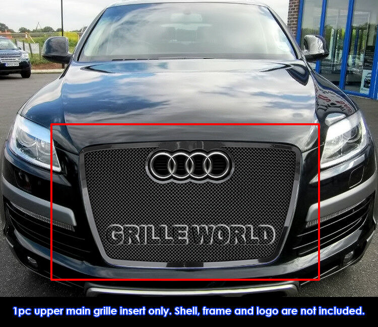 Fits 2007-2009 Audi Q7 Stainless Steel Black Mesh Grille