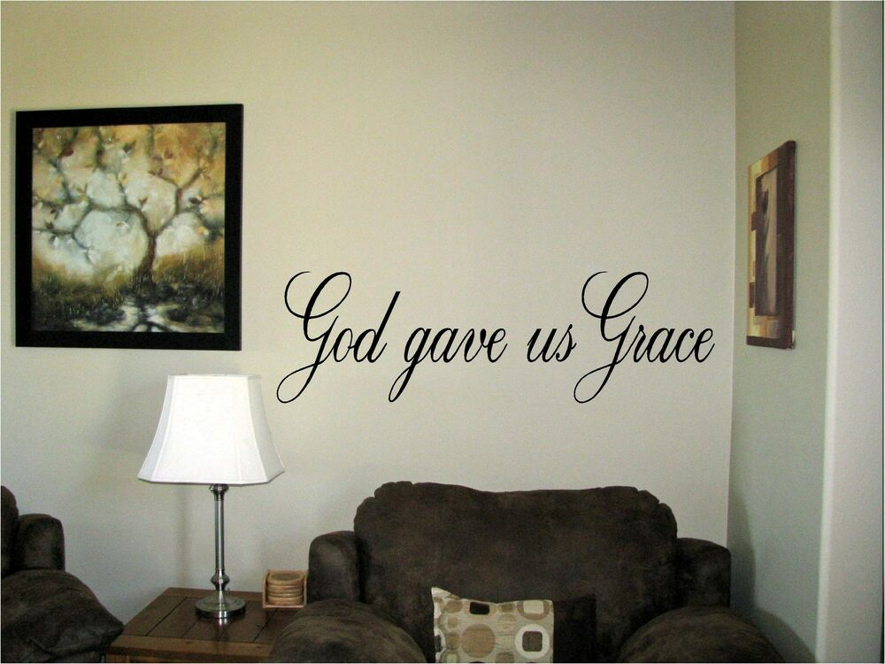 God Gave Us Grace Vinyl Wall Art Words Decals Stickers