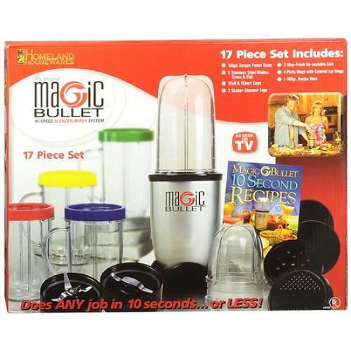 New the original magic bullet 17 piece hi speed blender for What brand of blender is used on the chew