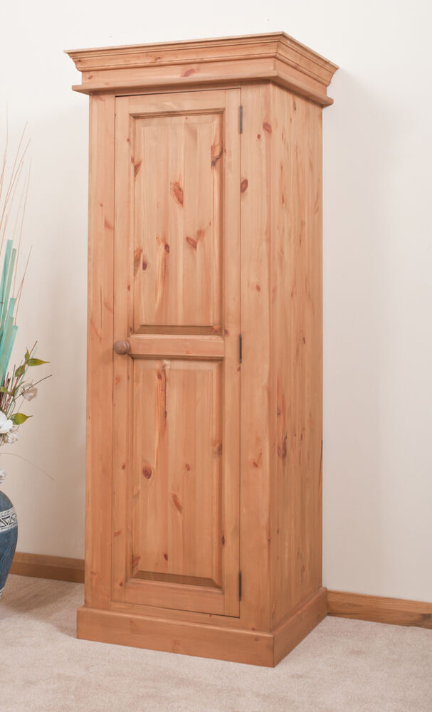 Solid Pine Wardrobe Single 1 Door Handmade