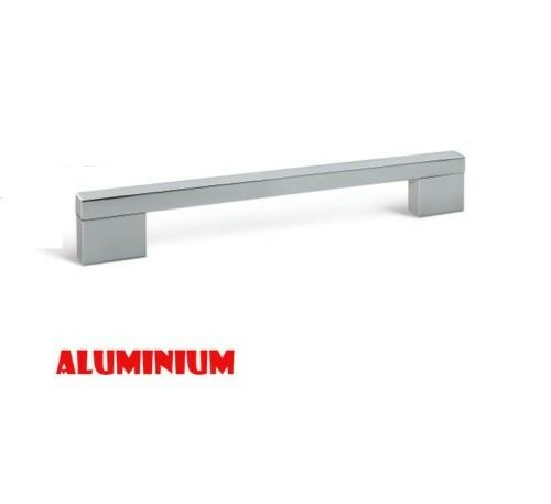 Aluminium chrome brushed steel cupboards cabinets kitchen for Brushed aluminum kitchen cabinets