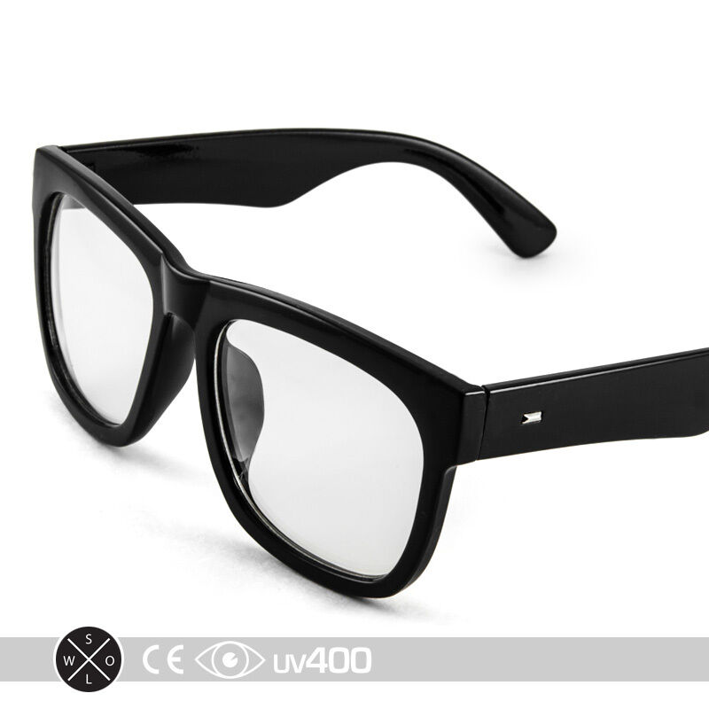 thick rimmed large frame nerd clear glasses sunglasses geek trendy case s123 ebay