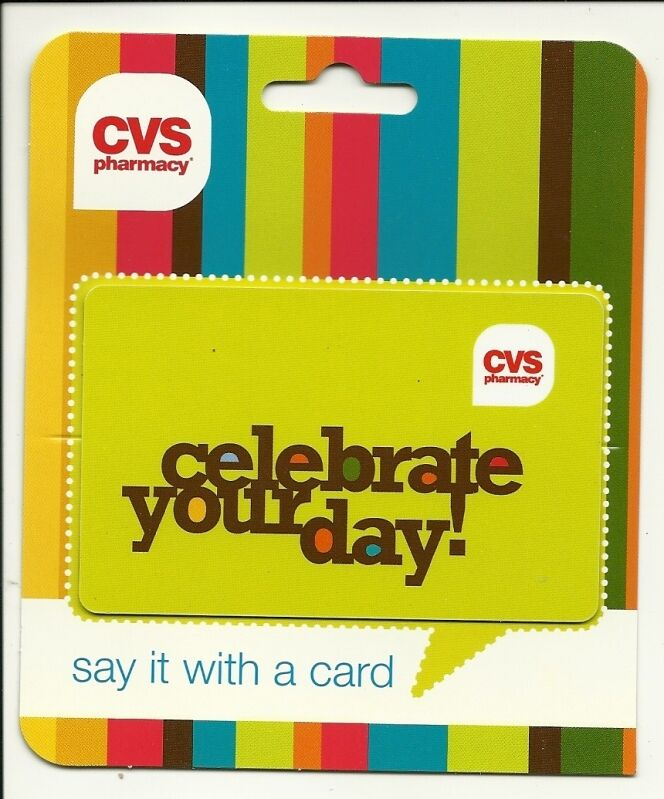 cvs celebrate your day gift card no   value collectible