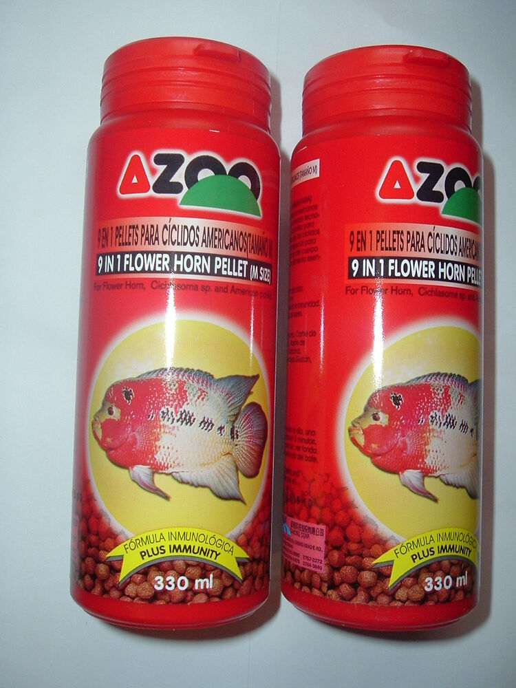 LOT OF TWO 135 GM AZOO 9 in 1 FLOWERHORN or BLOOD PARROT ...