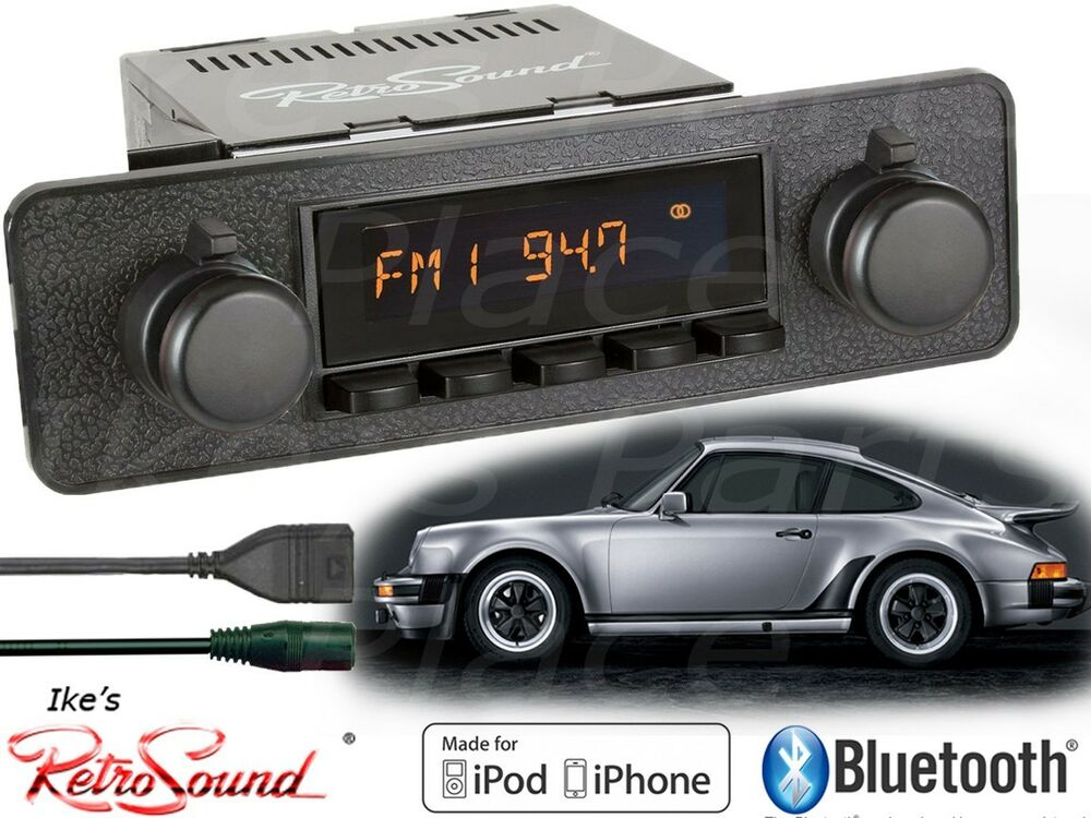retro sound model two b radio bluetooth ipod usb aux porsche blaupunkt kit ebay. Black Bedroom Furniture Sets. Home Design Ideas