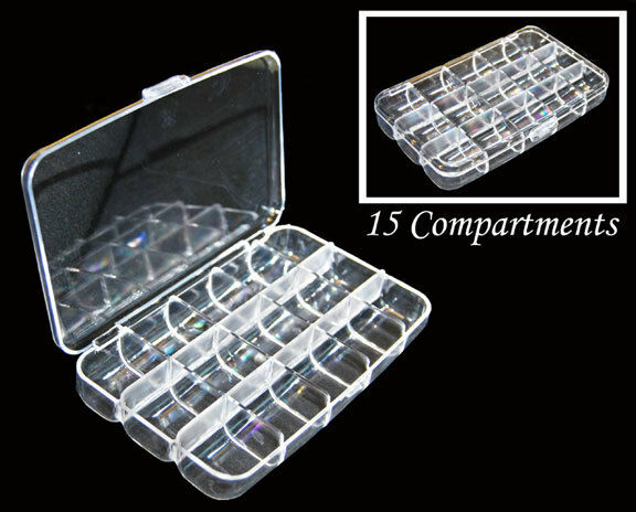 New Clear 15 Compartments Plastic Storage Container Box Us Free Shipping Ebay