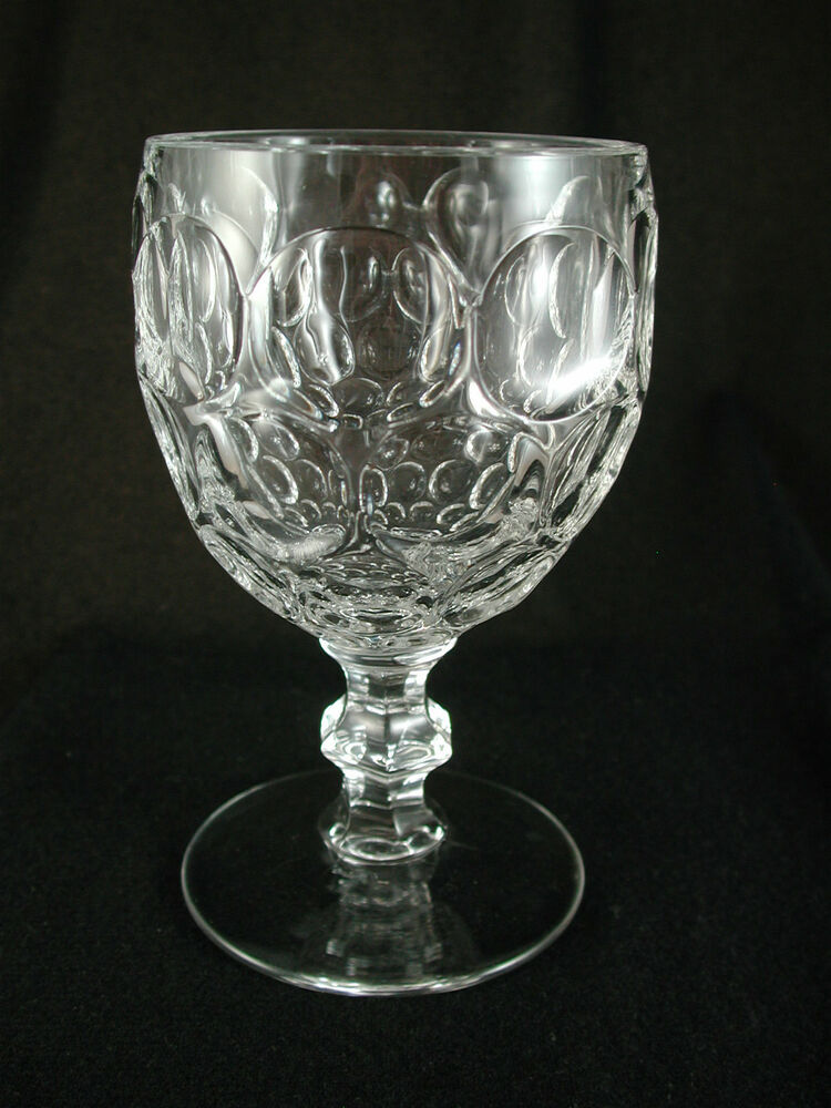 Heisey Provincial Whirlpool 1506 Crystal Footed 10 Oz