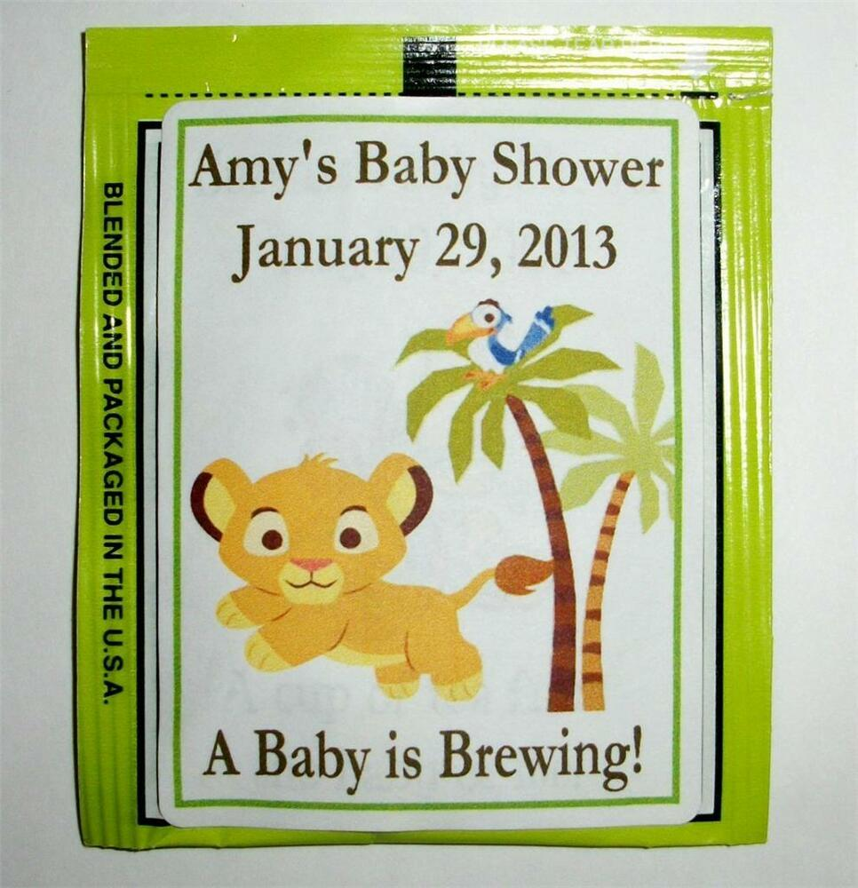 30 baby simba lion king baby shower tea bag labels favors ebay
