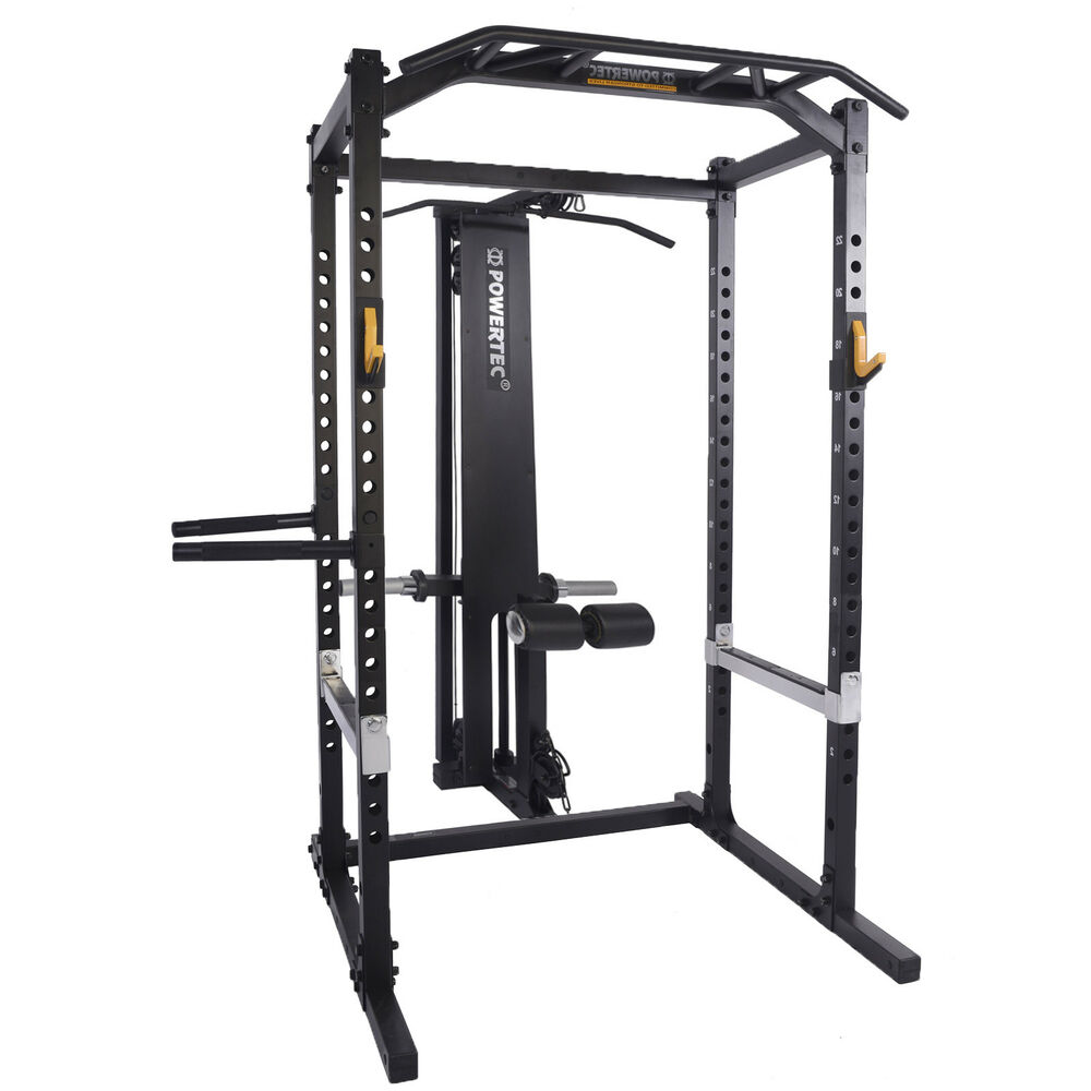 Power Rack With Weights: POWERTEC Power Rack System Squat Rack Cage Home Gym