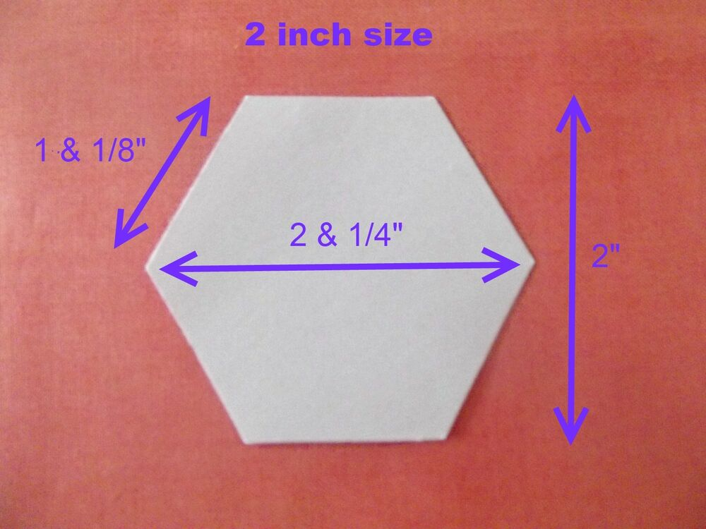 100 hexagon templates for patchwork paper perfect for for Hexagon quilt template plastic