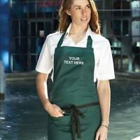 Personalised Bib Apron with Pocket Workwear - Full size - Embroidered